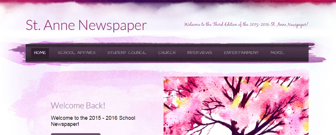 St. Anne Newspaper 2015 – 2016