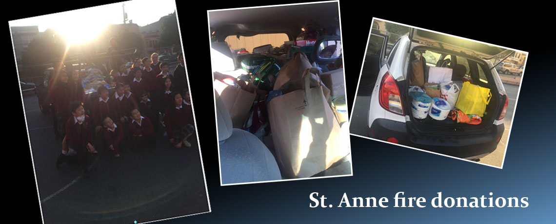St Anne Fire Donation
