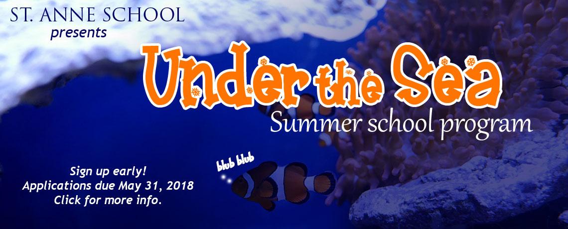 "2018 Summer School Program  ""Under the Sea"""