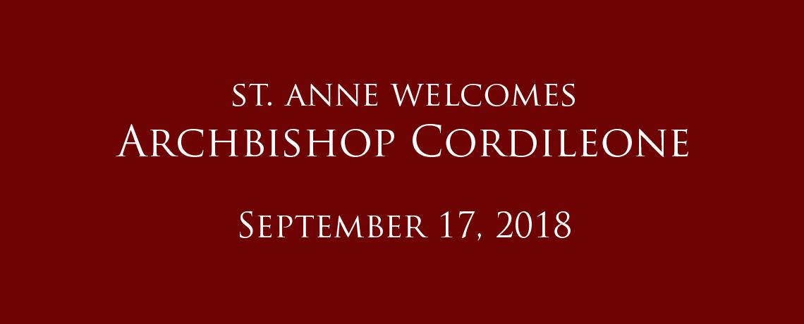 Archbishop Cordileone Visits St. Anne School