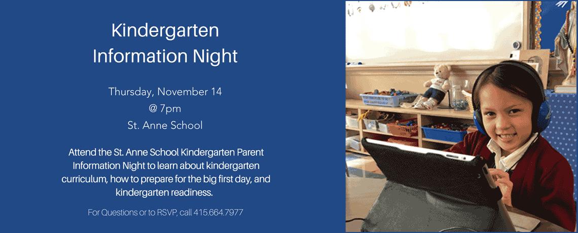 Kindergarten Information Night 2019